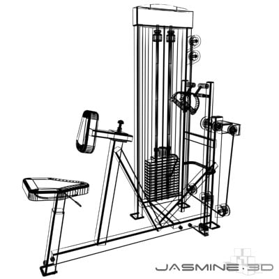gym equipment 3d max - Gym_atlantis back row_001... by jasmine3d
