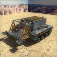 3d recon vehicle lunar rover model