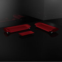 Red Carbon Fiber Couch Set