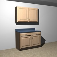 3d model kitchen cabinets - 48