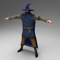 3d rigged wizard