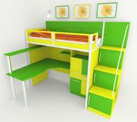 3d model child bed