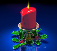 3d christmas pilar candle wax