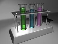 chemistry tubes 3d model