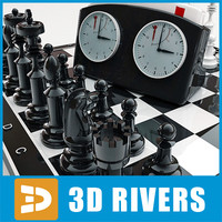 3ds max chess pieces