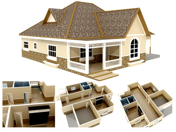 House plan max for House plan 3d model