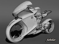 concept bike honda v4 3d max