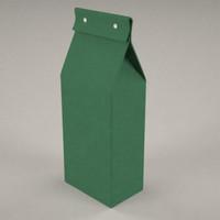 3d model pasta box