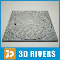 3dsmax manhole hole 04