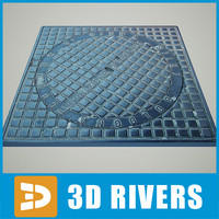 square manhole 3d max