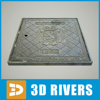 3ds max square manhole hole