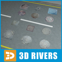 Manholes collection by 3DRivers