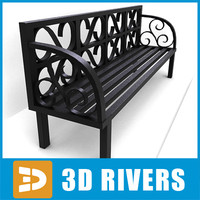 3ds max bench metallic