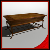 3d model living room coffee table