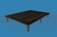 simple platform tables pontoons 3d model
