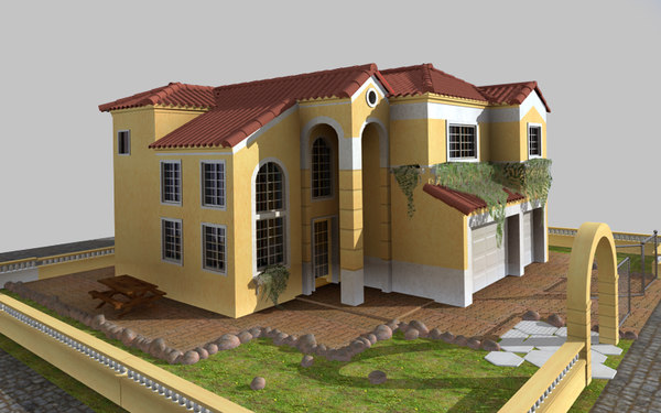 3d model mediterranean house - Mediterrane mobel ...