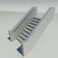 maya simple solid stair