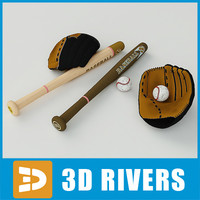 Baseball equipment set by 3DRivers