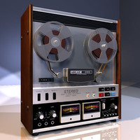 reel tape recorder 01 3d model