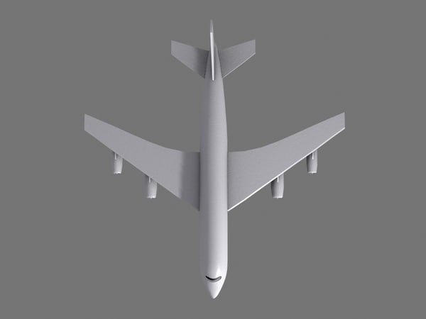 low-poly passenger jet airliner 3d 3ds - Passenger Airliner... by CuriousEffects