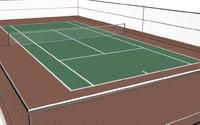 3d tennis court model