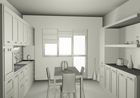 kitchen table cucina c4d