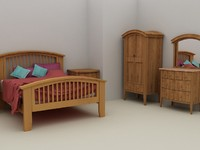 Nimbus Bedroom Furniture Set - High Quality Furniture 3d model