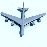 b52 bomber b 52 3d model