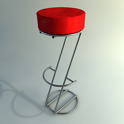 Free bar stool 3d model for Barhocker 3d model