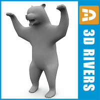3d polygonal bear