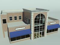 3d restaurant building model
