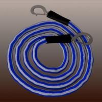 3d model car pulling rope