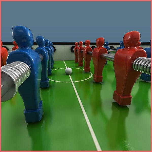 3d model foosball tabel - Foosball Table... by ofirc1