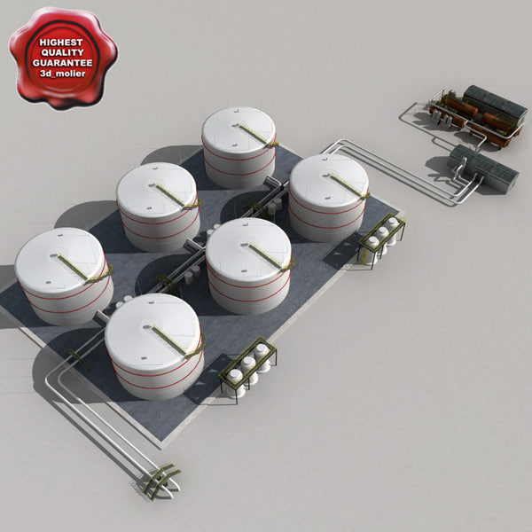 Fuel Tank 3d Model 3d Model of Fuel System And