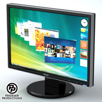 3d lcd display monitor model