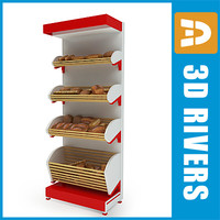 3d bread rack supermarket