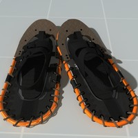 snow shoes 3d model