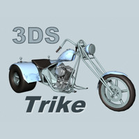 Harley davidson Trike Custom Three Wheeled Chopper