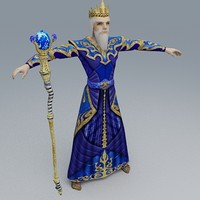 3d water mage model