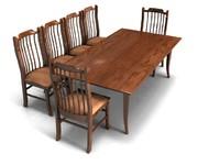 3d amish dining set furniture