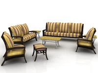 Atlantis 8 seater sofa set - High Quality Furniture 3d model