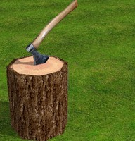 stump and axe