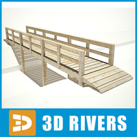 bridge wooden 3d 3ds