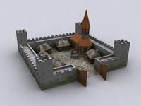 castle church houses 3d model