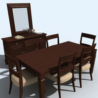 3d dining room set