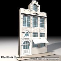 old style facade obj