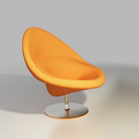 artifort chair design pierre paulin 3d model