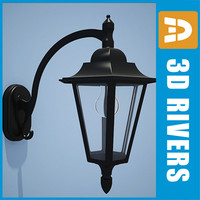 3d model street lamp lighting 01
