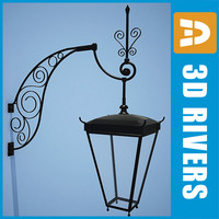 3d lamp street light model