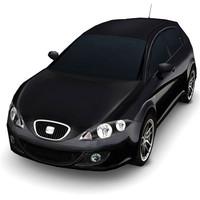 3d model of seat leon